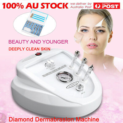 3 IN 1 Diamond Dermabrasion Machine Microdermabrasion System Beauty Clean Skin