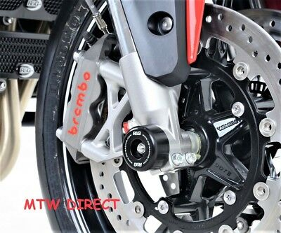 R&G RACING PAIR BLACK FORK PROTECTORS for Triumph Speed Triple (2011-2015)