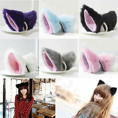 Orecchiette Party's Long Fur Ears Anime Neko Costume Hair Clip Cosplay (Color: M