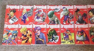 Set of 14 Dragon Ball 3 in 1 books volumes 1-42