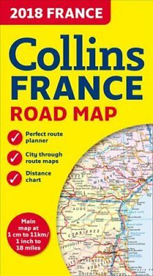 2018 Collins Map of France by Collins Maps 9780008262532