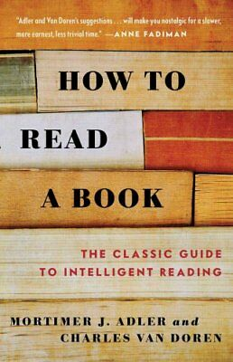 How to Read a Book by Mortimer J. Adler 9780671212094 (Paperback, 1986)