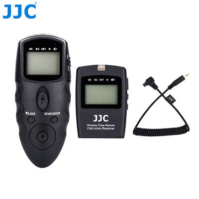 JJC Wireless Timer Remote Control for Canon EOS 7D 6D Mark II 5D Mark IV III 5DS