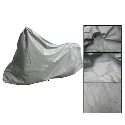 Motorcycle Cover Silver Outdoor Bike Scooter Cover Rain UV Dust Protection M HS1