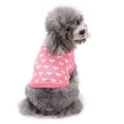 Dog Pet Love  Sweater Puppy Knit Jacket Clothes Apparel For Small Medium Dog #.