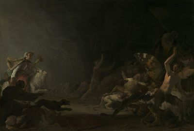 """perfect 36x24 oil painting handpainted on canvas """"A Witches' Sabbath""""@NO5596"""