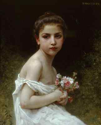 """perfect 24x36oil painting handpainted on canvas""""a beautiful girl,flowers""""@bgr034"""