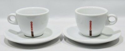 KIMBO CAFE 2 grandes Tasses + soucoupes chocolat Royal Mason Porcelaine neuf