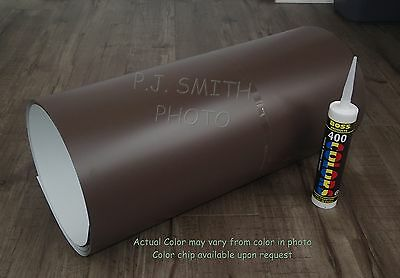 """Musket Brown #250 Aluminum Coil 24"""" x 50' Package Trim Nails & Caulk included"""