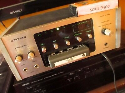Vintage Pioneer H-R99 INDUSTRIAL GREY 8-Track Player TESTED 30 DAY GUARANTEE