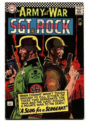 OUR ARMY AT WAR #172 1966-DC WAR COMIC-SGT. ROCK fn/vf