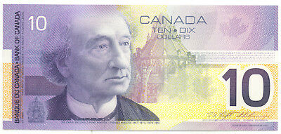 Bank of Canada 2001 $10 Ten Dollars FDT Sheet Replacement Note UNC SCARCE