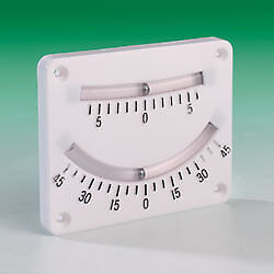Boat Wall Mounted White Plastic Clinometer. 2 Scales. 102mm x 82mm