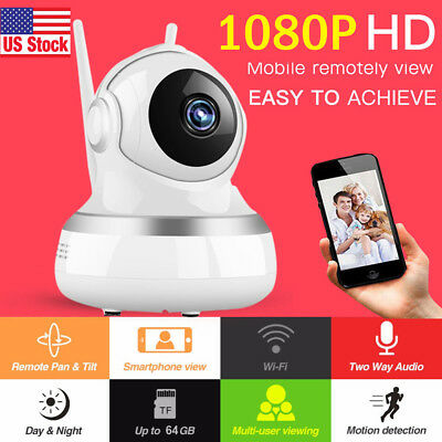 Home Security WiFi IP Camera Surveillance System Wireless HD Video Night Vision