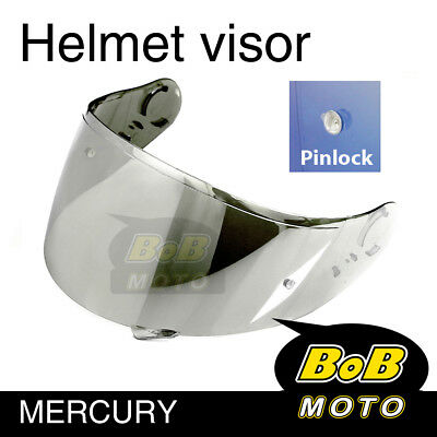 Chrome Tinted Shield Helmet Visor Pinlock Fit GT AIR Shoei Neotec GT-Air AU