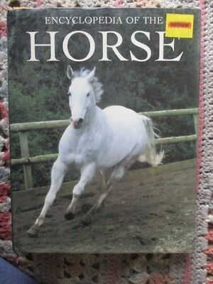 """HC BOOK w DJ THE BOOK """" ENCYCLOPEDIA OF THE HORSE """" by RANDOM HOUSE FIRST 1997"""