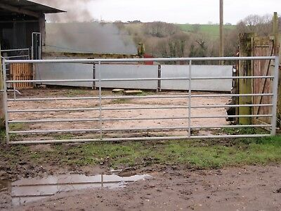 Farm Field Gate 12 Foot Metal Galvanised Gate  - Used Good Condition
