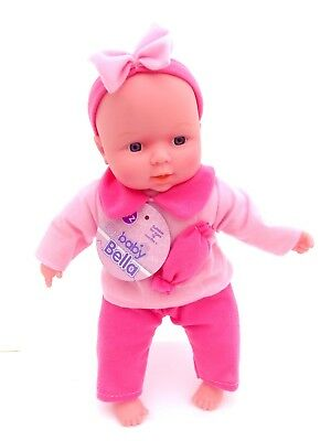 Baby Bella 30cm Soft Bodied New Born Doll with Pink Outfit