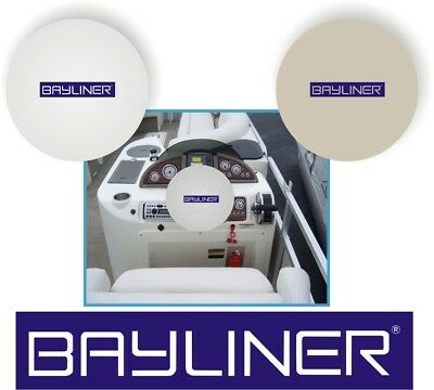 WHITE 100% Micro Fiber BAYLINER Stretchable Marine Boat Steering Wheel Cover
