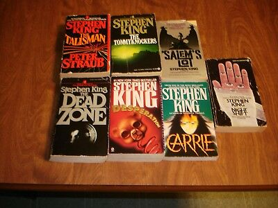 Lot Of 8 Stephen King Novels The Dead Zone-Night Shift-Carrie-Salem's Lot + More