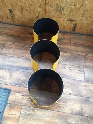 "Set Of 3 Retired Traffic Light Signal Shades 12"" Round South Carolina Roads"