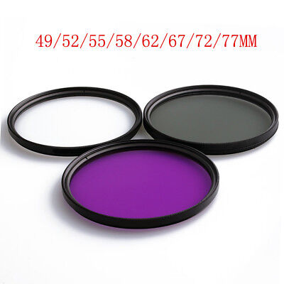 Neewer 49/52/55/58/62/67/72/77MM CPL UV FLD Close-up Lens Filter Kit Aceessories