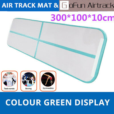 GoFun Airtrack Air Track Floor Home Inflatable Gymnastics Tumbling Mat GYM Green