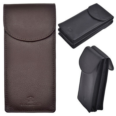 Arnicus High Quality Leather Double Sided Glasses - Spectacle Case