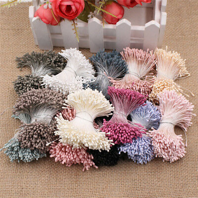 300-400pcs Artificial Flower Stamens Clusters Cake Decorating Sugar Craft DIY