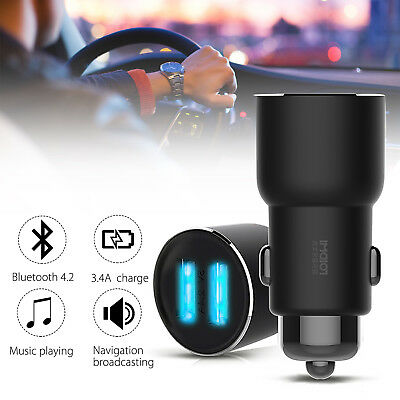 Global Version ROIDMI3S Car Bluetooth FM Transmitter MP3 Player Dual USB Charger