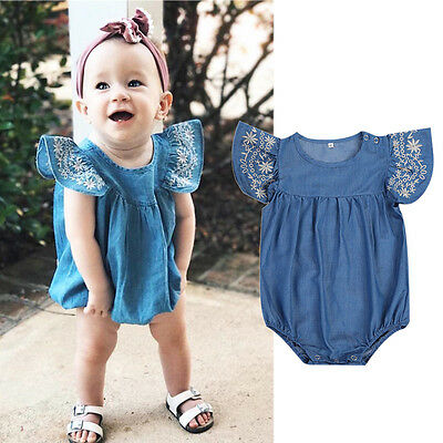 51503f65d Toddler Baby Girls Infant Clothes Denim Rompers Jumpsuit Outfit Sunsuit USA  wea