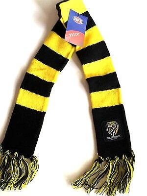New AFL Richmond Tigers Baby Toddler Scarf