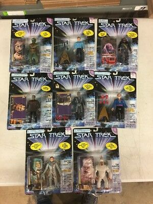 Lot Of 8 New Sealed Star Trek Playmates Action Figures Captain Kirk & More