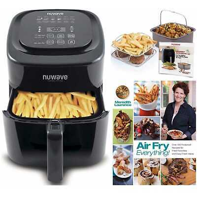 NuWave Brio Air Fryer (6 qt) with 2-piece Cooking Set and Air Fryer Cookbook