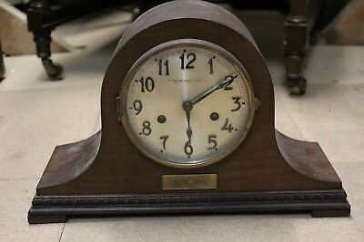 Antique Wooden Mantel Clock (In Need Of Repair) The Northern Goldsmiths Co