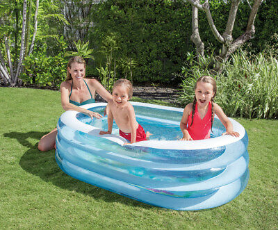 Intex 57482 Planschbecken 3 Ring Pool 163 x 107cm Kinderpool My Sea Friends Pool