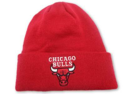 e206d83a160 Chicago Bulls Adidas NBA Basic Red Cuffed Knit Hat Cap Toque Beanie OSFA