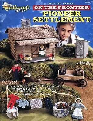 Pioneer Settlement On the Frontier ~ Family Play Set plastic canvas patterns
