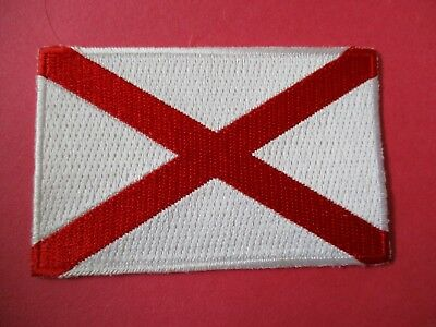 """Alabama State Flag New Iron-On Patch - 3½"""" x 2¼"""""""