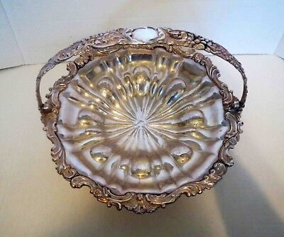 Antique Victorian LARGE SILVER BASKET BOWL - EXTRAORDINARY REPOSE WORK