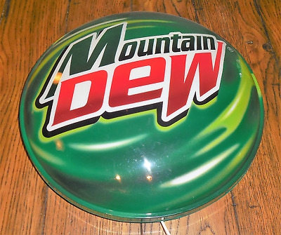 """Mountain Dew Light up (Needs Bulb) Button Sign Man Cave Advertising Lighted 15"""""""