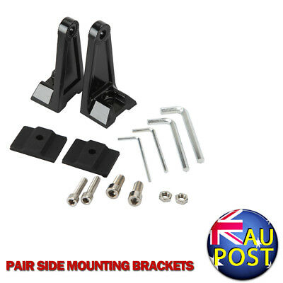 2pcs Universal Side Mounting Brackets Mount Rotating For LED Work Light Bar Car