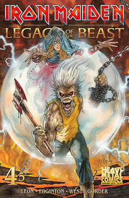 Iron Maiden Legacy of Beast #4 Leon West Heavy Metal Comic Book NM COVER A