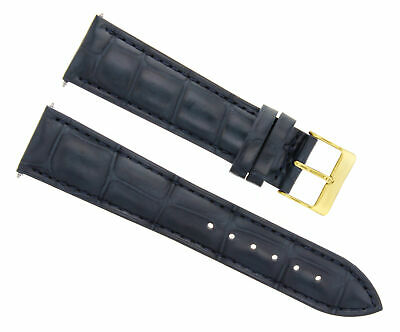 18Mm Leather Watch Band Strap Buckle For Longines Watch Gold Buckle