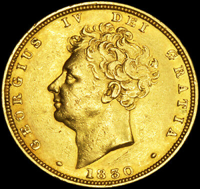 Rare King George The Iv 1830 Gold Sovereign....