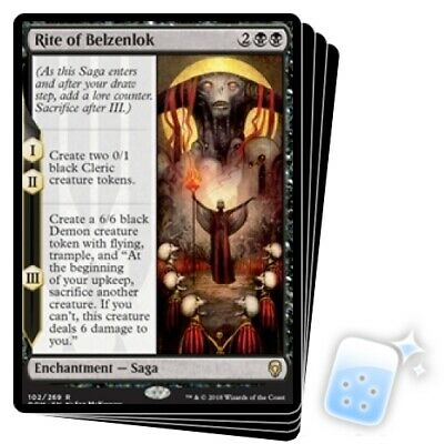 RITE OF BELZENLOK X4 Dominaria DOM Magic MTG MINT CARD