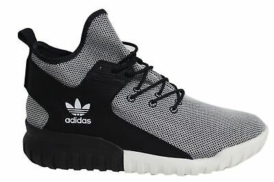 super popular 16726 b2050 Adidas Tubular X Lace Up Black White Mens Textile Hi Trainers BA7782 D49