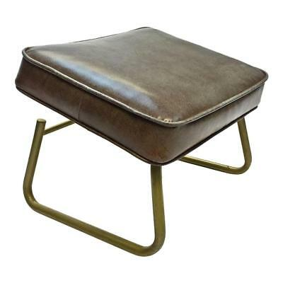 Vintage VINYL FOOT REST stool ottoman mid century danish modern adjustable 60s