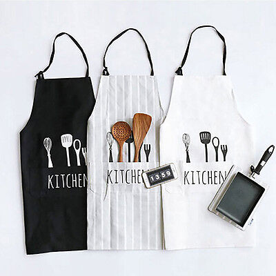 Women Man Apron Commercial Restaurant Home Bib Spun Poly Cotton Kitchen Aprons 4