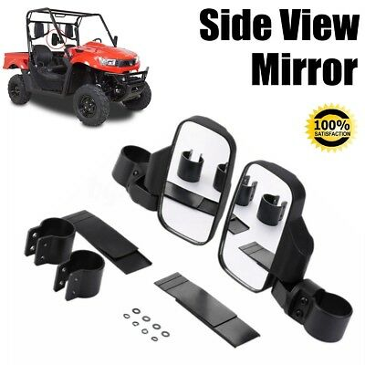 For UTV Offroad Rear Side View Mirror Set High Impact Break-Away Large Wide View